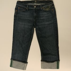 7 For All Mankind Crop MIA Capri Jeans Women's 29